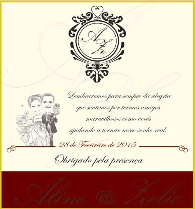 rótulo de casamento Vinho Morais